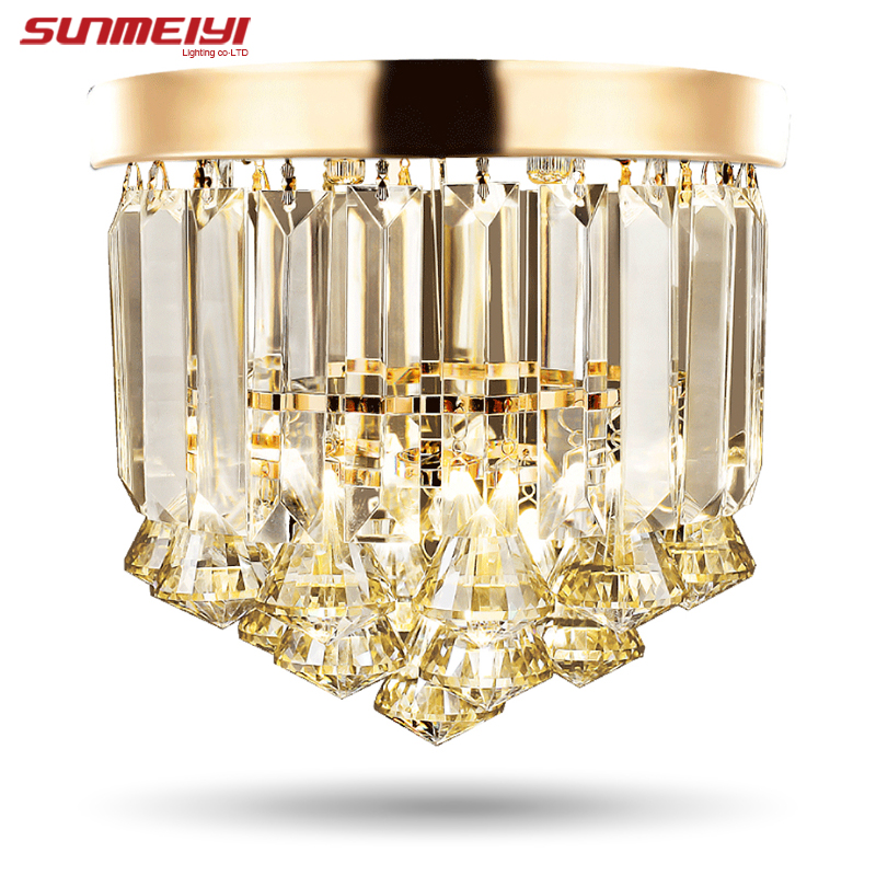 Modern Crystal LED Ceiling lights For Living room candeeiro de teto para quarto Crystal Ceiling Lamp Home Decoration noosion modern led ceiling lamp for bedroom room black and white color with crystal plafon techo iluminacion lustre de plafond
