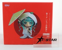 EMS Shipping 6pcs Cute 4 Nendoroid VOCALOID Yuki Hatsune Miku Strawberry Ver. PVC Action Figure Model Collection Toy Gift #303