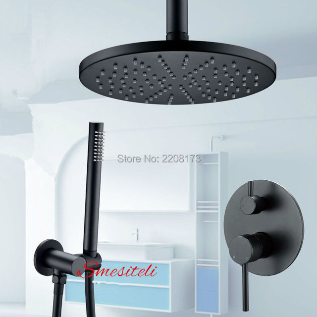 Shower Sets System Wholesale Luxury Bathroom Faucet Rose Black 8 16 ...