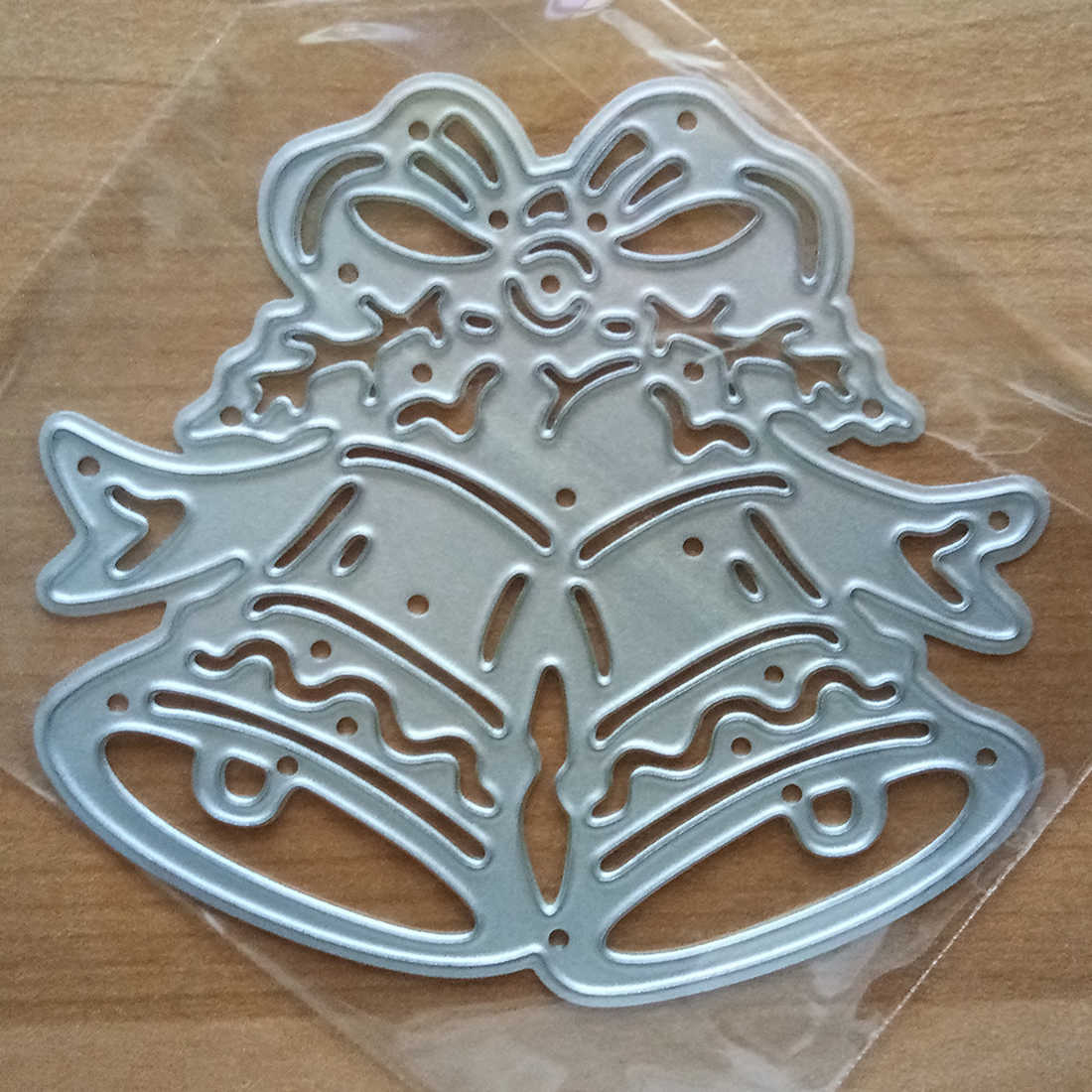 Top Sale Metal cutting dies Christmas Jingle Bell DIY Stencil Decorative Scrapbooking Craft 1pc