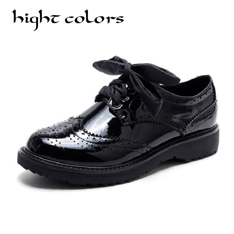 Femmes Appartements Genuin En Cuir Oxford Chaussures Pour Femmes Grand Femme Taille Designer Vintage Chaussures plates Bout Rond Creepers Casual Chaussures