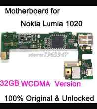 Well worked unlocked Original Motherboard For Nokia Lumia 1020 motherboard 32GB WCDMA main board Logic Board