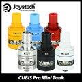 Original cubis pro mini atomizador 2 mlvape fit joyetech evic joyetech vtwo mini caixa de mod e-cig tanque de fluxo de ar ajustável cartomizer