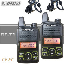 2 PCS Baofeng BF-T1 BF T1 Portable Mini Walkie Talkie CB Two Way Ham UHF Radio Station Transceiver Boafeng PMR 446 PMR446 Amador(China)