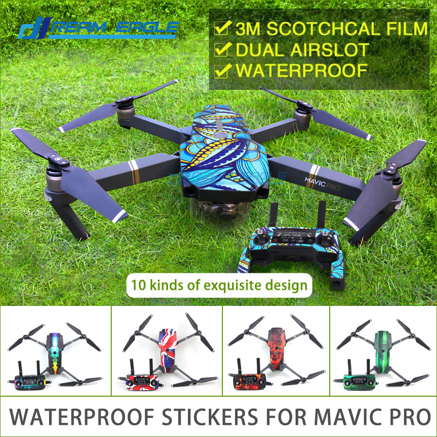 Mavic pro Stickers Waterproof Skin Decals Battery Remote Controller 3M Stickers for DJI MAVIC PRO