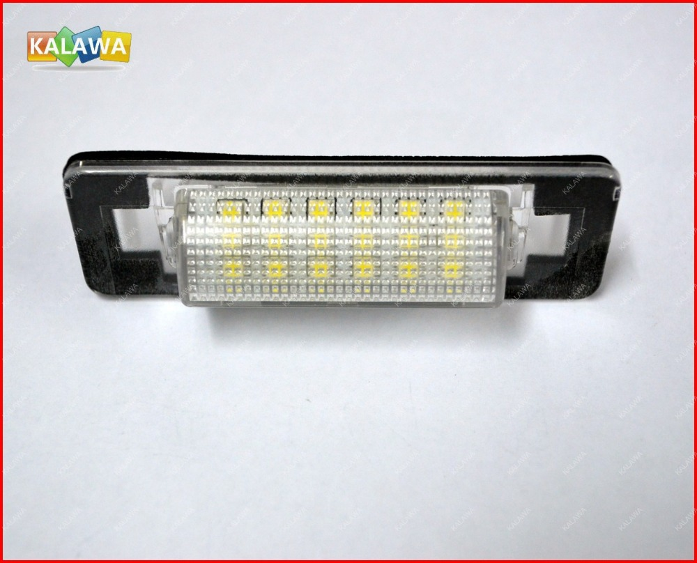 LED License plate light case for Mercedes Benz W210 4D Sedan licence frame lamp 030209 GGG