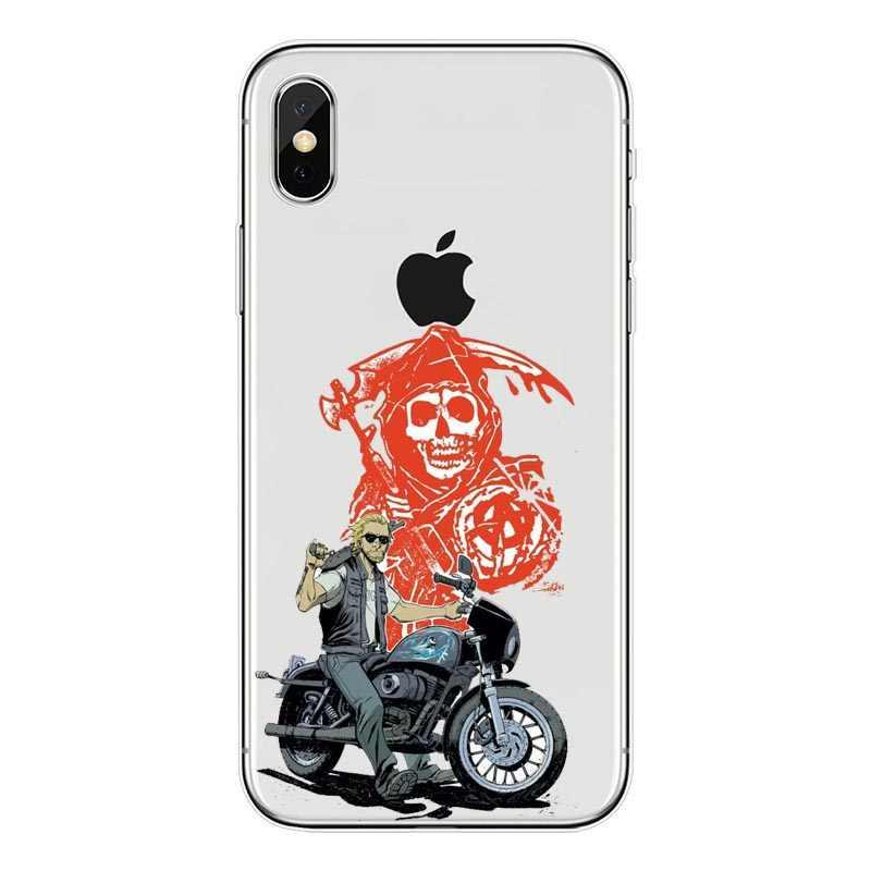 Truyền Hình Mỹ Người Con Trai Của Chủ Nghĩa Vô Chính Phủ Điện Thoại Ốp Lưng Máy Tính Cho iPhone 45 SE 6 6 Plus 7 7 Plus 8 Plus X XS Xsmax XR Fundas Coque CapA