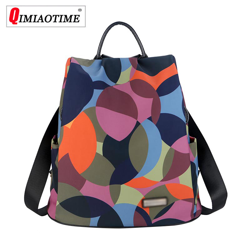 2018 New Shoulder Bag Lightweight Casual Waterproof Oxford Cloth Bag Travel Bag Female Backpack Color Printing Woman Bag2018 New Shoulder Bag Lightweight Casual Waterproof Oxford Cloth Bag Travel Bag Female Backpack Color Printing Woman Bag
