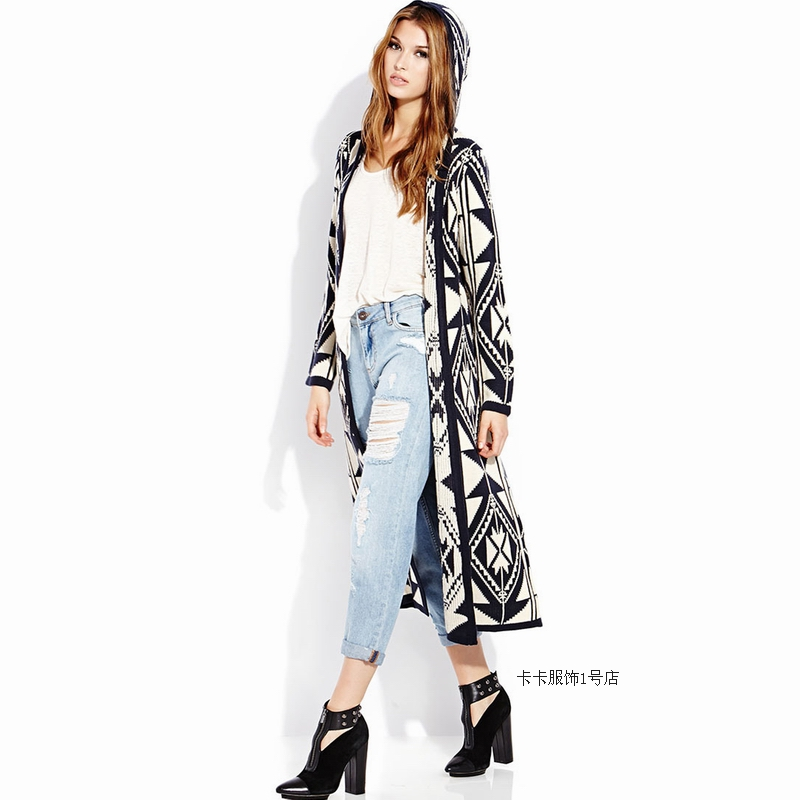 Online Shop Spring autumn woman casual loose geometric patterns ...