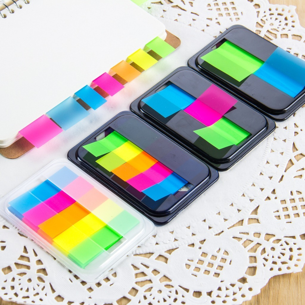 1 PCS DIY Creative Cute Fluorescence Kawaii Colored Memo Pad Sticky Paper Post It Note School Office Supplies Korean Stationery