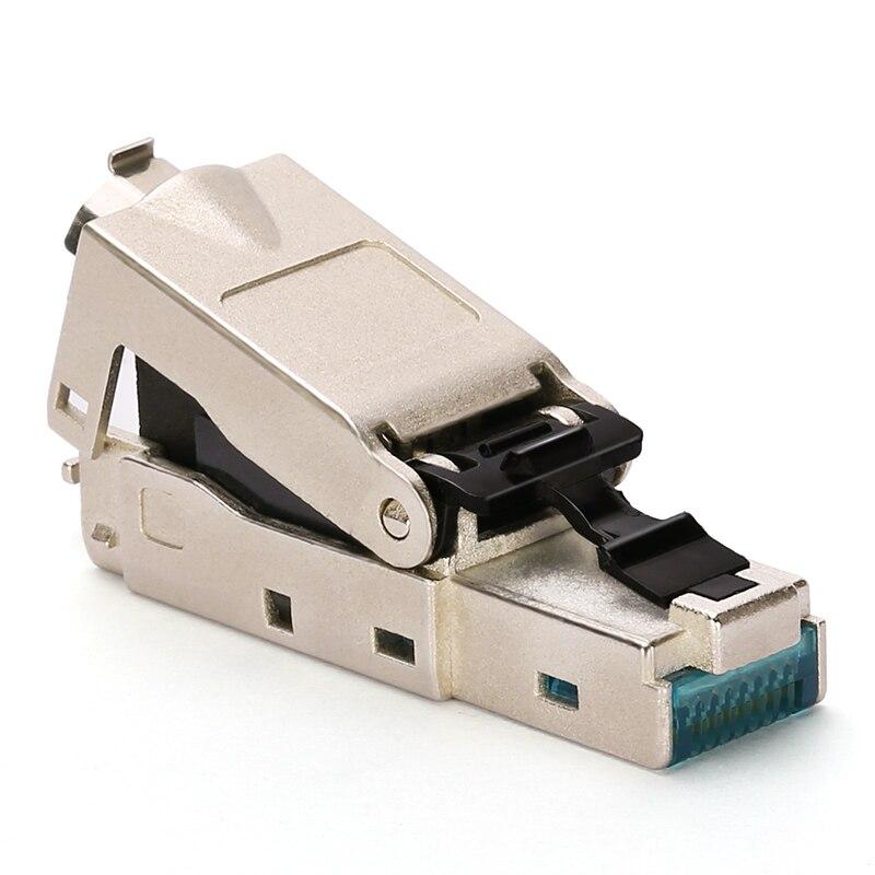 Blindé cristal tête En Métal Module Outil-Livraison Plug FTP RJ45 connecteur Ordinateur câble adaptateur pour 10 Gbps serveur réseau