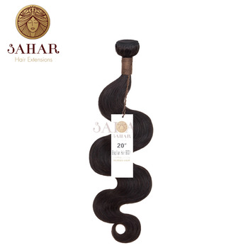 SAHAR Unprocessed Brazilian Weft Hair Body Wave Extensions 100% Remy Human Hair Weave Bundles Natural Color Free Shipping