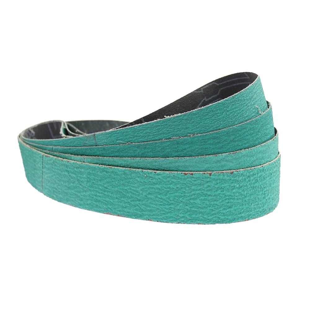 4 Piece 686*50mm Sanding Belt Fused Zirconia Alumina Sanding Screen For Hard Metal Grit 40 60 80 120