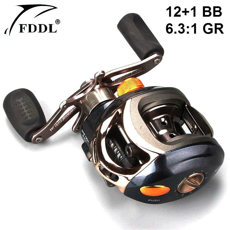ФОТО Righthand Water Drop Fishing Reel Wheel 12+1BB Ball Bearing 6.3:1 Gear Ratio Metal Water Drop Wheel Bait Casting Water Drop Reel