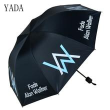 YADA Folding Faded Alan Walker Umbrella Rain uv High Quality Cartoon Umbrella For Women Windproof Parasols Music Umbrellas YS284 alan walker bergen