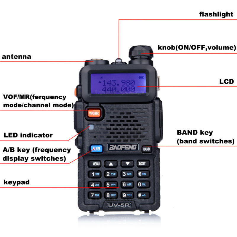 Baofeng uv-5r 8W ptt walkie talkie uv-8HX sister pmr radio walk talk bf-a58 uv5r uvb2 plus uv-b5 tyt cb radio+antena+car charger (7)