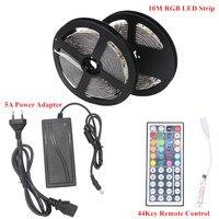10M DC 12V RGB LED Strip 5050 2835 Not Waterproof Fita LED Light Neon Flexible Lamp