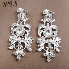 Bridal Hats Alloy Glass Diamond Bride Crown Ear Clip Sets Wedding Hair Accessories Headpieces Wedding Hat Headdress