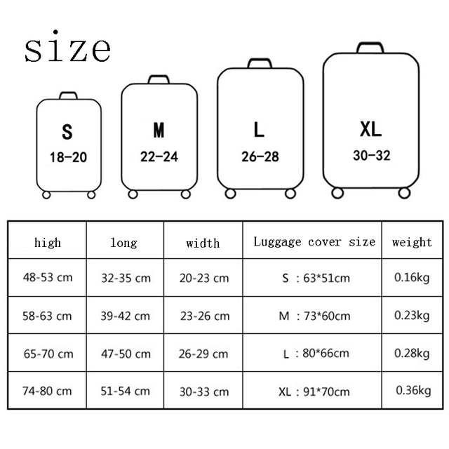 TLDGAGAS Luggage Cover Travel Suitcase Protector Suit For 18-32 Size Cute cat Pattern Trolley Case Dust Cover Travel Accessories