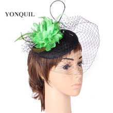 Fashion New style party headwear silk flower with fascinator base wedding hair accessories occasion hat bridal