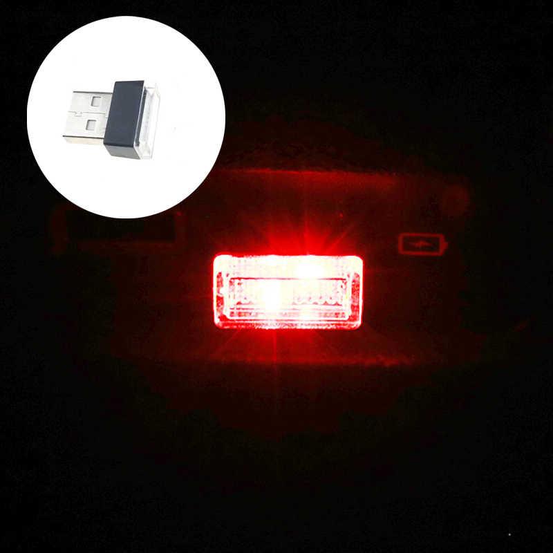 USB البسيطة LED سيارة مصباح لتهيئة الجو ولاعة السجائر الديكور مصباح لتهيئة الجو ل ميتسوبيشي ASX/أوتلاندر/لانسر