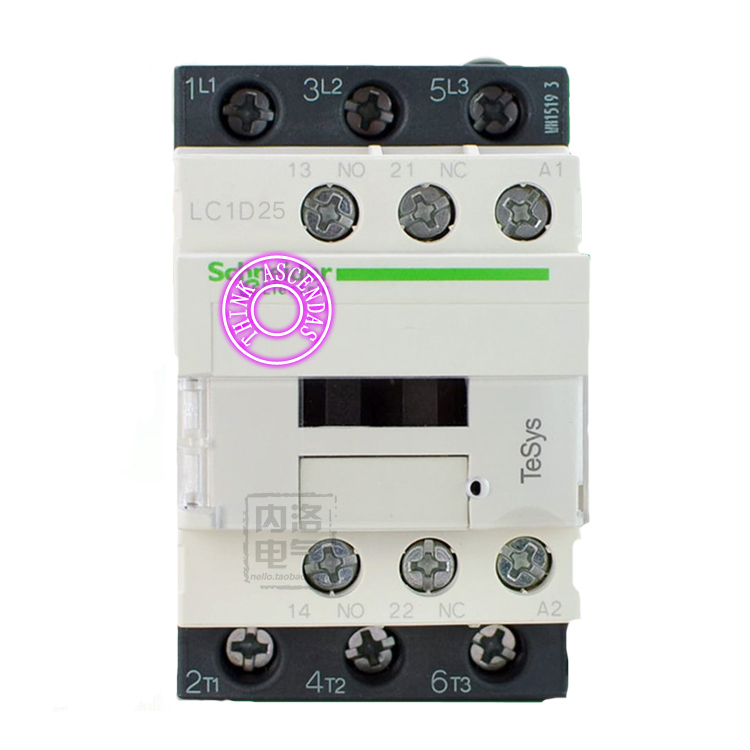 LC1D Series Contactor LC1D25 LC1D25BDC 24V LC1D25CDC 36V LC1D25DDC 96V LC1D25EDC 48V LC1D25FDC 110V LC1D25GDC LC1D25JDC 12V DC sayoon dc 12v contactor czwt150a contactor with switching phase small volume large load capacity long service life