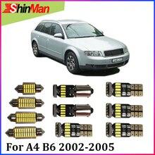 ShinMan 21X ошибок Мастер светодиодный Автомобильный свет Внутреннее освещение светодиодный комплект для Audi A4 B6 Avant светодиодный интерьер посылка 2002-2005
