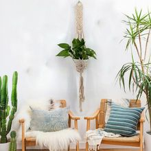 2019 Nordic Bohemia Compilation Tapestry Basket Plant Potted Net Pocket Wall Decoration Pendant Hanging