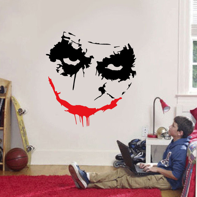 Joker Sticker Comics Superhero Wall Decals Stranger Things Wall Decoration  Vinyl Art Kids Room Decor Waterproof