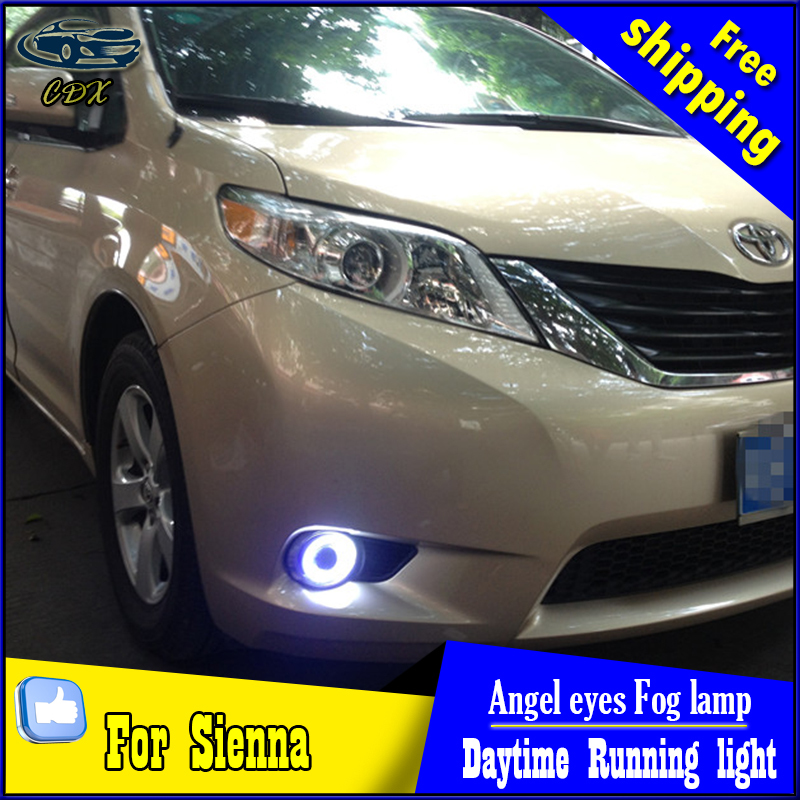 CDX car styling angel eyes fog light  for toyota sienna 2010-2014 LED fog lamp LED Angel eyes LED fog lamp Accessories купить