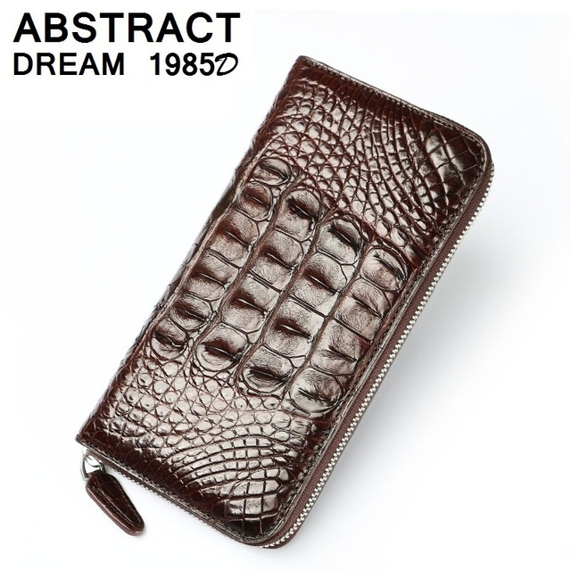 Classic wallet men's 100% Alligator skin 2019 quality designer bags luxury Business wallet real leather men wallet Fashion purse