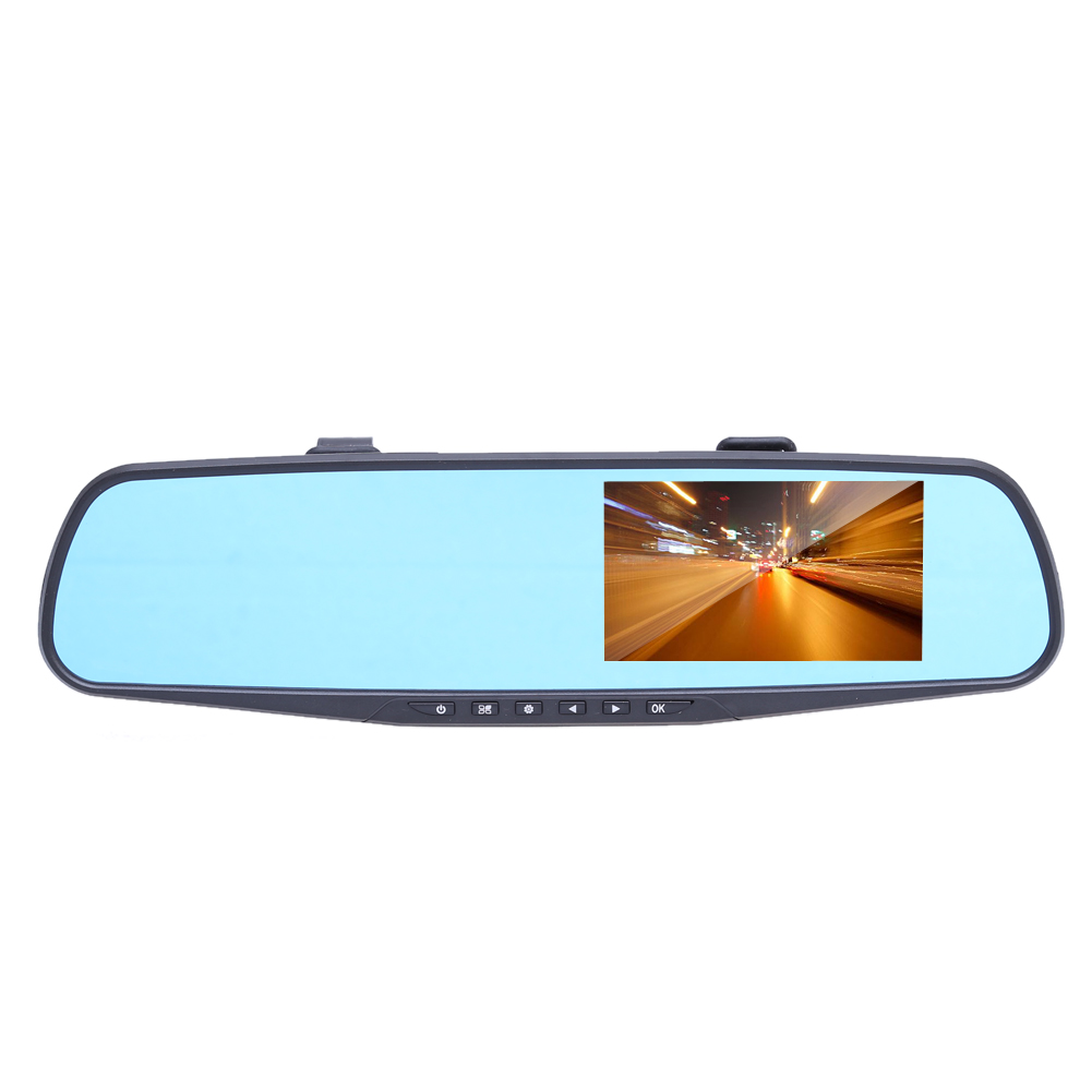FHD 1080P 4.3 Inch Dual Lens Car DVR Rearview Camera Dash Cam Digital Video Recorder Rear View Mirror with DVR and Camera C#S8