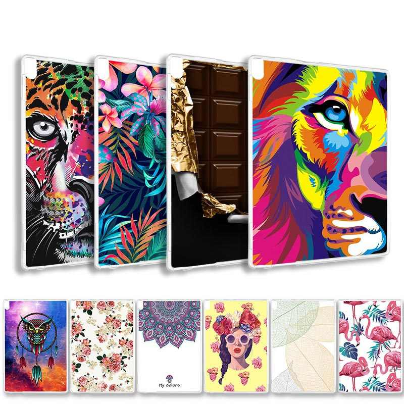 Clear Painted Tablet Case For Lenovo Tab 4 7 8 10 Plus Case Silicone Cover For Lenovo Tab 2 3 A10-70 A7-20 A7-30 Soft TPU Bags
