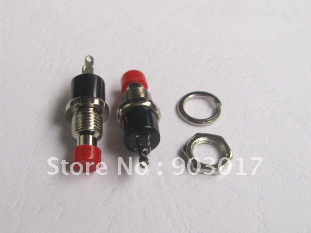 Circuittest Mini Push Button Momentary Switch Black Cap Spst On