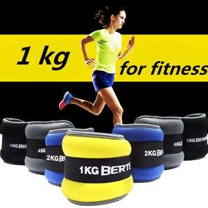 1 kg/paire réglable poignet cheville poids fer sable sac poids sangles avec néoprène rembourrage pour l'exercice Fitness course