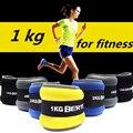 1 kg/par pesos de tornozelo de pulso ajustável saco de areia de ferro pesos correias com preenchimento de neoprene para o exercício fitness running