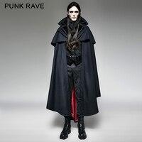 Панк Rave синий Готический вампира рок мотоцикл стиль моды пальто мыса куртка Y709, вечерние Косплэй одежда