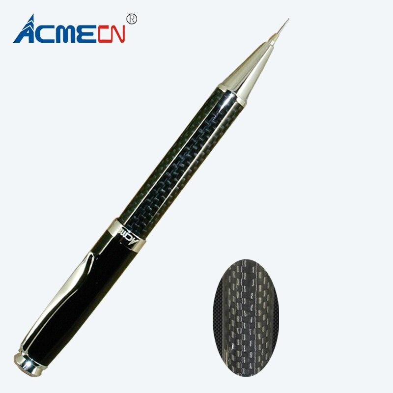 ACMECN New High Quality Metal Black Carbon Fiber Twist Pencil Unique Design Brand Office Stationery 0.7mm Mechanical Lead Pencil