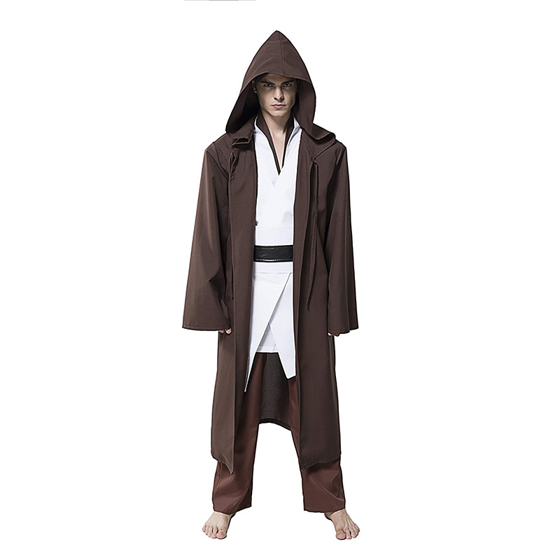 Star Wars Hooded Tunic Movie Cosplay Costume Jedi Robe Uniform Full Set