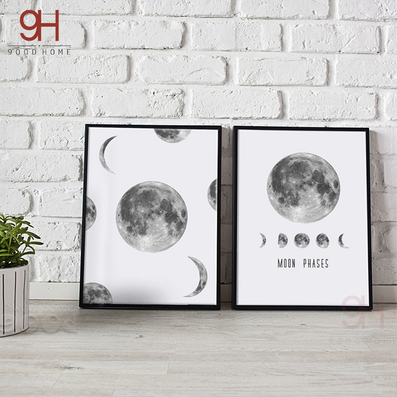 900d Canvas Art Print Painting Poster Moon Wall Pictures For Home Decoration Wall Decor S16001