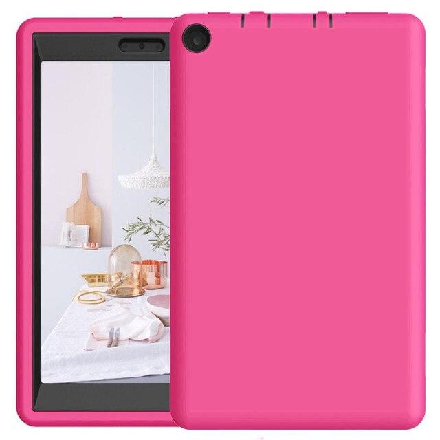 LANDFOX Hybrid Case Cover For Amazon Kindle Fire HD 8 Tablet Pencils Film 2019
