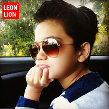 LeonLion 2019 Classic Vintage Sunglasses Children Colorful Mirror Glasses