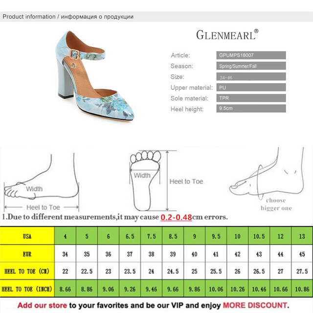 2018 Women Pumps High Heels Woman Shoes Brand Spring Pointed Toe Ankle Strap Pumps Flower Thick Heel Wedding Shoes Plus Size 45