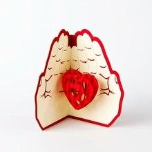 Соответствующий работы, резка любви pop святого валентина конверт открытки сообщение лазерная
