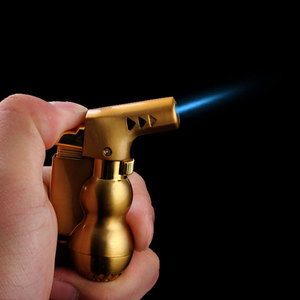 Image 5 - NEW Mini Spray Gun Compact Butane Jet Lighter Torch Turbo Lighter Fire Windproof Metal JET Lighter 1300 C NO GAS