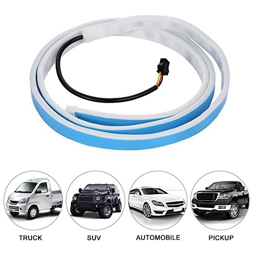 120cm 150cm LED Dynamic Streamer Blue Red Yellow Turn Signal Tail Box Trunk Lights Luggage Compartment Tailgate LED Car styling in Decorative Lamp from Automobiles Motorcycles