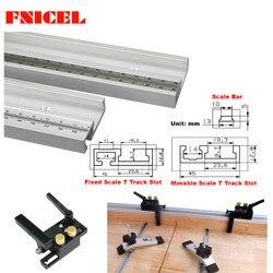 45mm slot de faixa de esquadria slot de liga de alumínio t-faixas com escala e faixa de mitra parar roteador serra de mesa carpintaria ferramentas diy