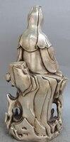 """15 """"Chiński Srebra kwan yin Guanyin Wazon Na Wzgórzu Słowa Posąg Buddy siakjamuniego R0709 w Posągi i rzeźby od Dom i ogród na"""
