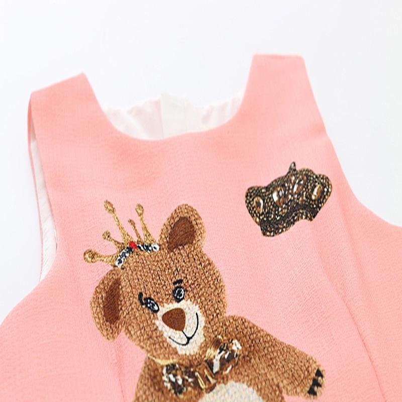 Girls Dress Summer Baby Clothes Girl Sleeveless Kids Dresses For Girls Character Bear Print Dresses Princess Dress 4