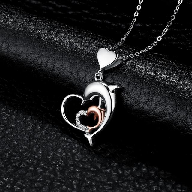 Dolphin Love Sterling Silver Pendant